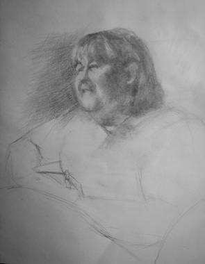 Port Coquitlam Candid sketch, pencil portrait